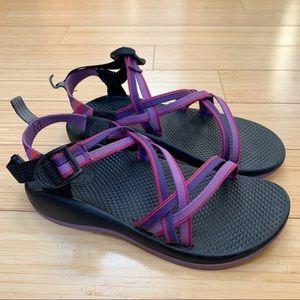 CHACO ZX/1 purple strap sandals, fits women's 7.